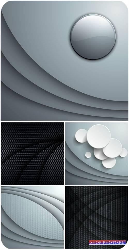 Черные и серые абстрактные фоны в векторе / Black and gray abstract backgro ...