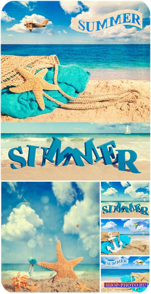 Летние фоны, море / Summer backgrounds, sea - Stock Photo
