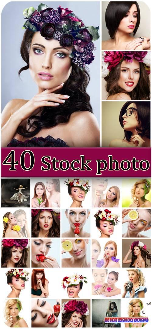 Девушки, красота, гламур / Girls, beauty, glamor - Stock photo