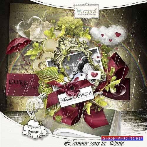 Романтический скрап-комплект - Любовь под дождем