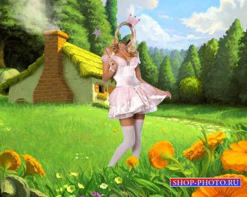 Фея на сказочной поляне - Шаблон для девушек