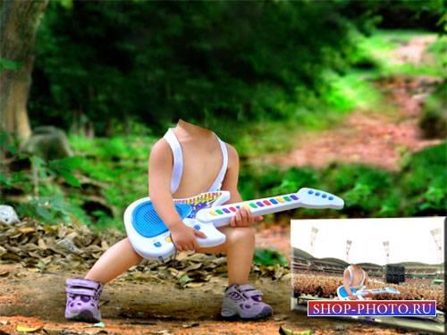 Шаблон детский - Модный гитарист