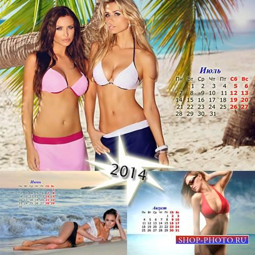 Красивые девушки летом - Календарь на лето 2014