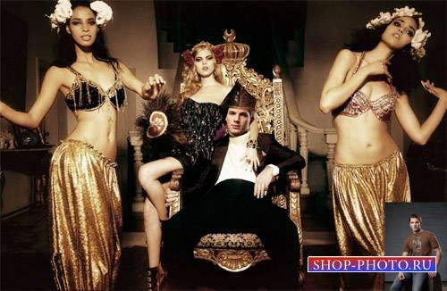 Шаблон для Photoshop - Приватные танцы для богатого парня