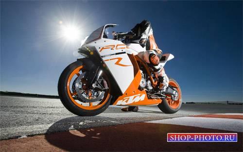 Шаблон для фотошопа - Езда на мотоцикле