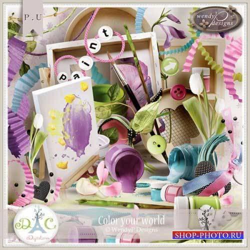 Яркий детский скрап-комплект - Раскрась свой мир