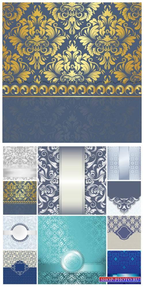 Фоны с золотыми и серебристыми узорами / Backgrounds with gold and silver o ...