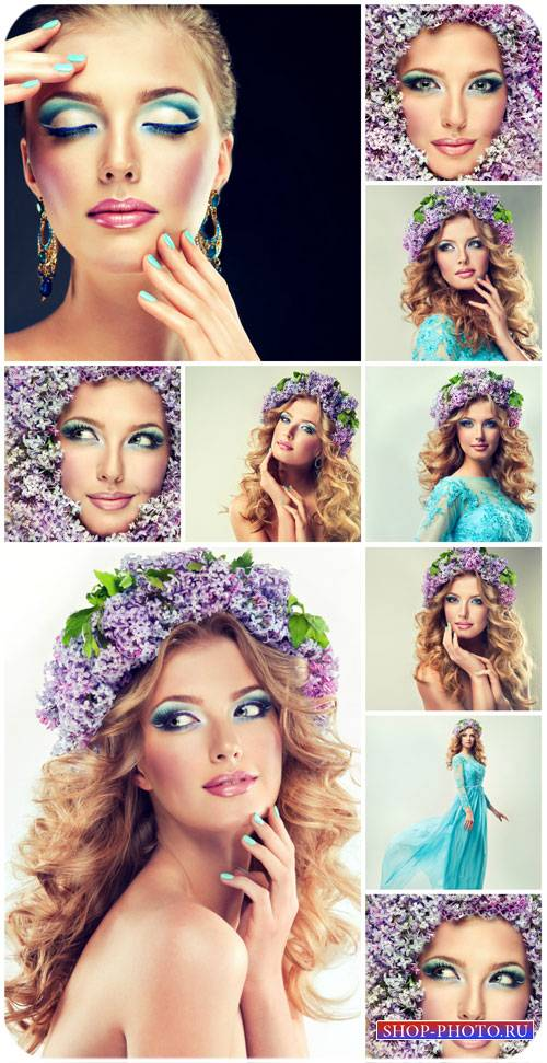 Девушка и сирень / Girl and lilacs - Stock photo