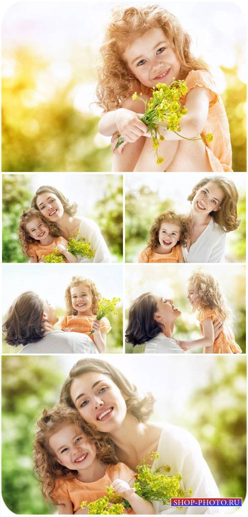 Мама с маленькой дочкой / Mother with her little daughter - Stock Photo