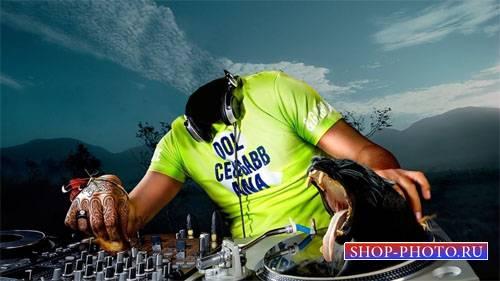 Шаблон для Photoshop - Супер DJ