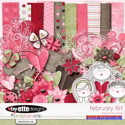 Романтический скрап-комплект - February Flirt