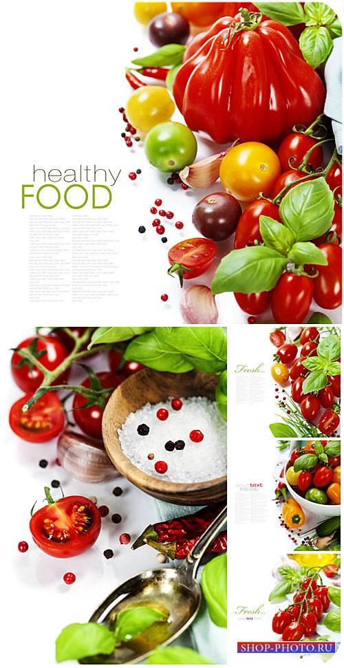 Свежие овощи, здоровое питание / Fresh vegetables, healthy food - Stock pho ...