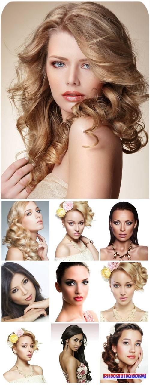 Девушки с красивыми прическами / Girl with beautiful hairstyle - Stock Phot ...