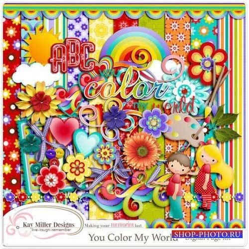 Красочный детский скрап-комплект - Мои цвета моего мира