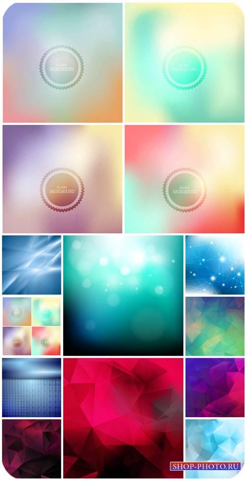 Векторные цветные фоны, разноцветная абстракция / Vector colorful backgroun ...