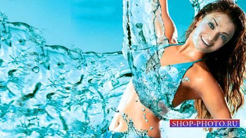 Шаблон для Photoshop - Танец воды