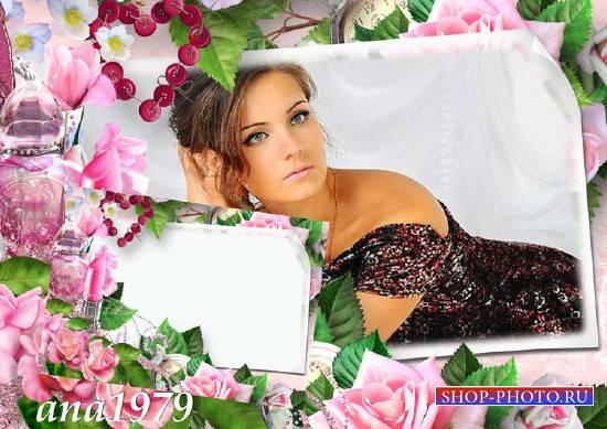 Рамка для фотошопа - Любовь прекрасна и нежна