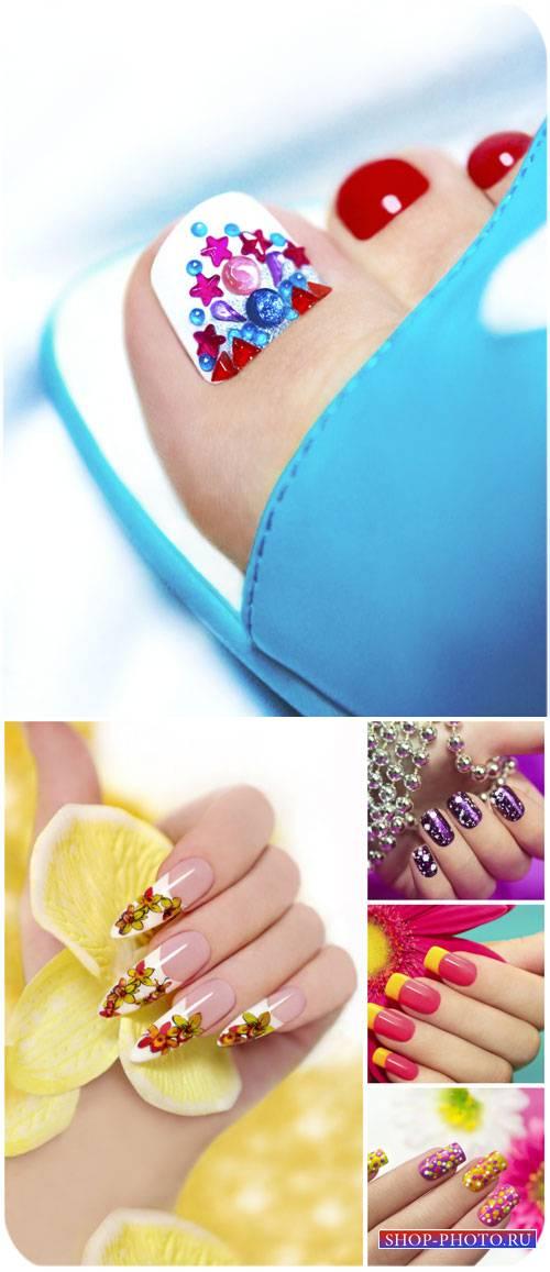Стильный маникюр и педикюр / Stylish manicure and pedicure - Stock photo
