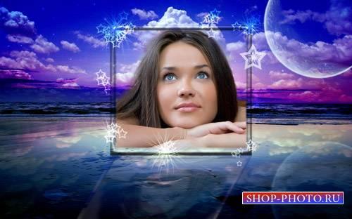 Рамка для фотошопа - Вечерние мечты