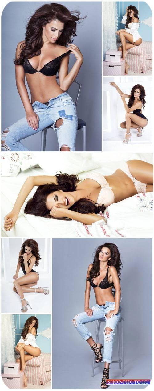 Модные и обворожительные девушки / Fashionable and charming girls - Stock P ...