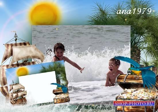 Рамка для фотошопа – Большая волна