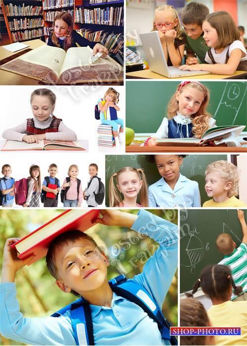 Школьники – Растровый клипарт