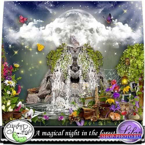 Сказочный скрап-комплект - Волшебная ночь в лесу