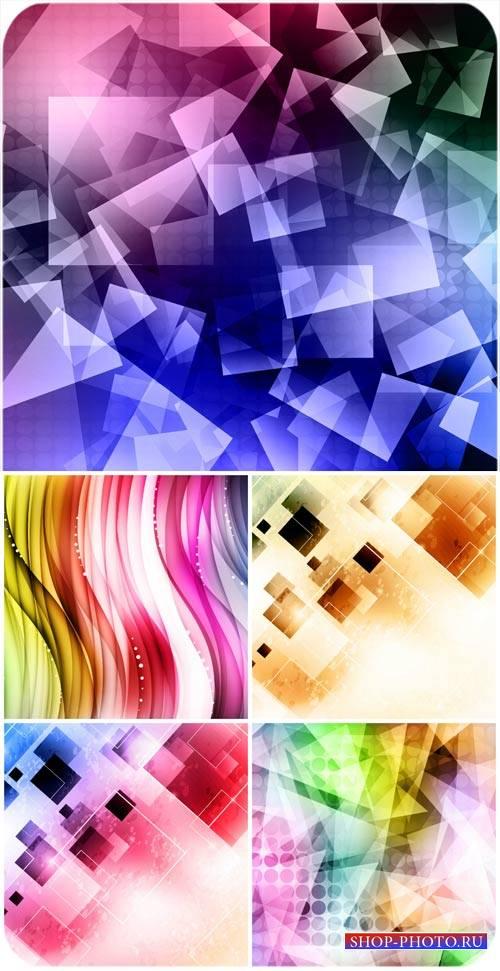 Векторные фоны, абстракция, цветные фоны / Vector backgrounds abstract #1