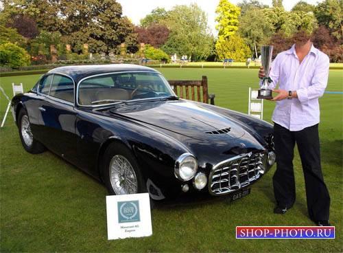 Шаблон для Photoshop - Классическое авто Maserati