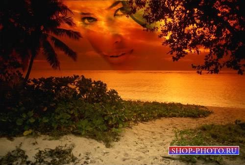 Рамка для фотомонтажа - Вечерний берег моря