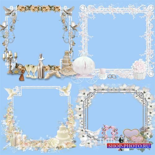 Клипарт – Свадебные рамки - кластеры