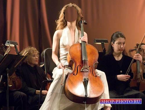 Женский шаблон - Музыкантша