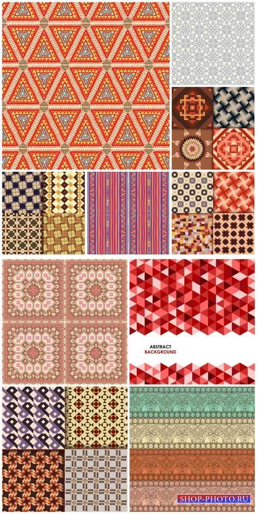Фоны с узорами, цветочные тектуры в векторе / Backgrounds with patterns, fl ...
