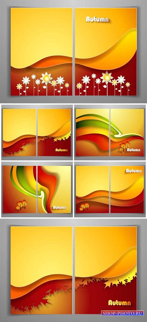 Осенние фоны в векторе, абстракция / Autumn background vector, abstraction