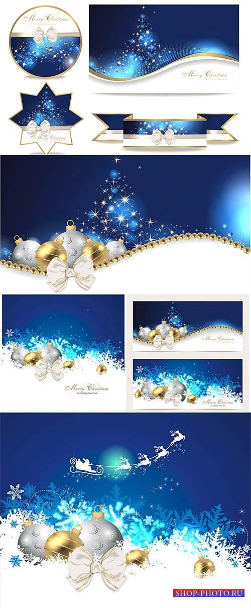 Новогодние векторные фоны 2015 / Christmas vector backgrounds 2015