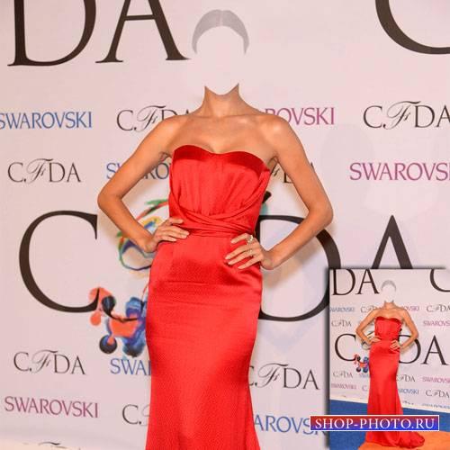 Шаблон для Photoshop - Модель в красивом платье