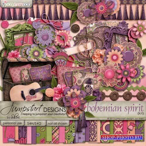 Яркий скрап-комплект - Богемный Дух