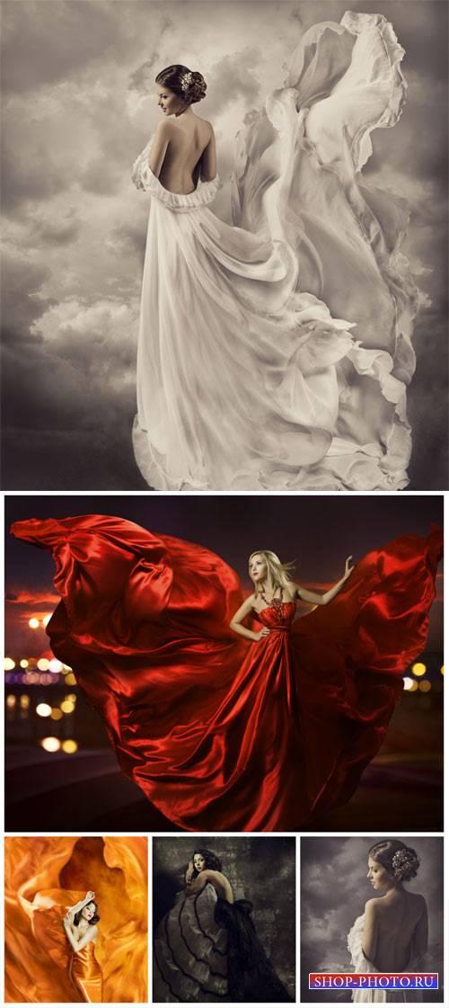 Женщины в роскошных платьях / Woman in luxurious dress - Stock Photo