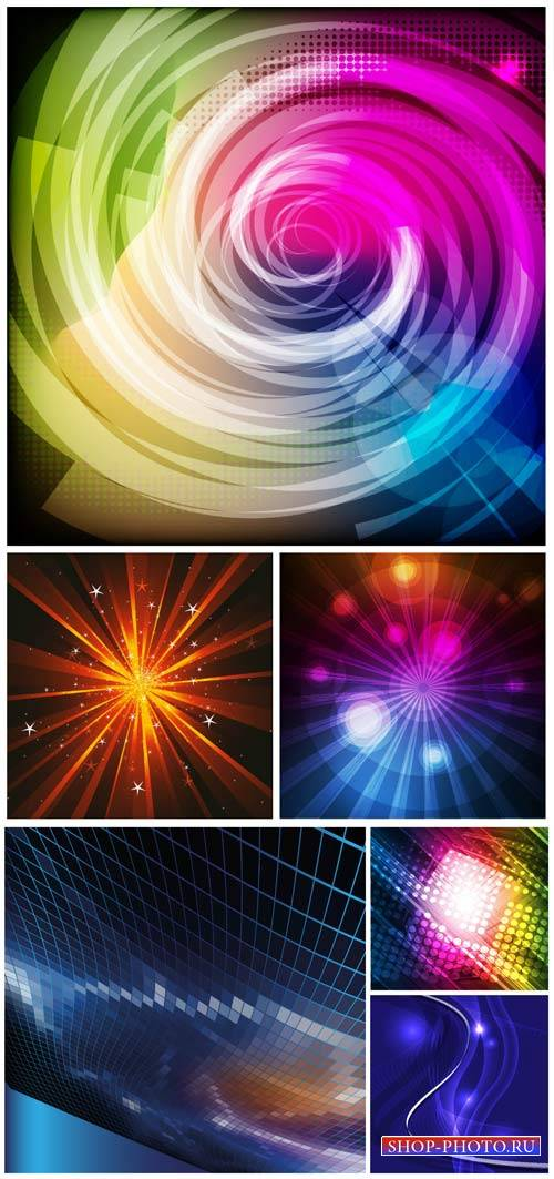 Абстрактные векторные фоны / Abstract vector backgrounds # 10
