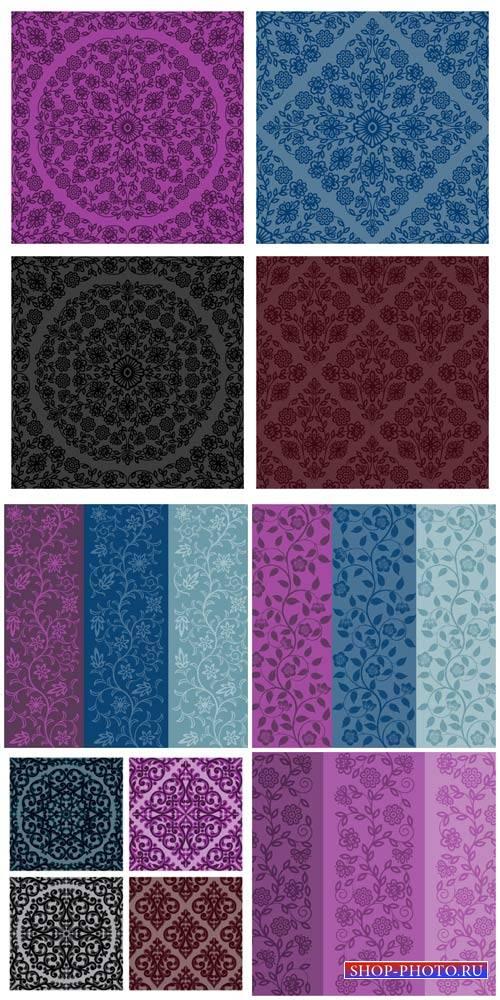 Цветочные векторные фоны / Floral vector background #1