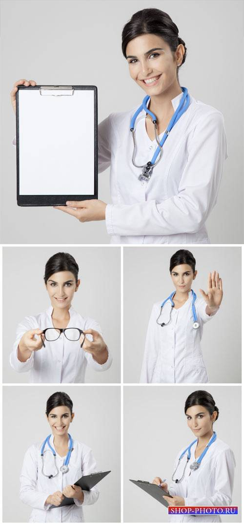 Женщина врач, медицина / Female medical doctor, medicine #1 - stock photos