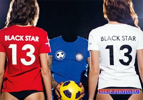 Шаблон для мужчин - Футбольный игрок