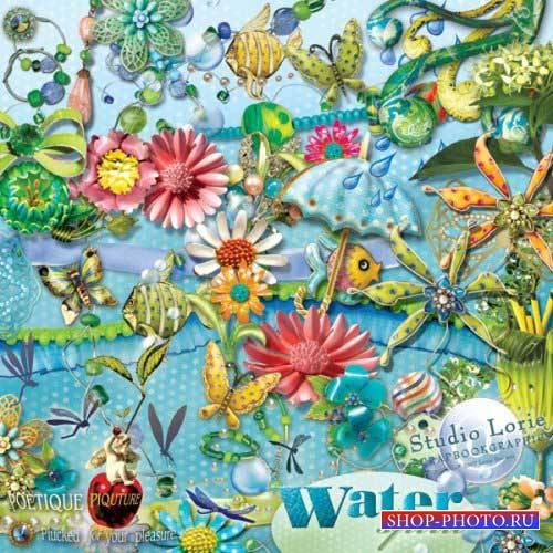 Фантазийный скрап-комплект - Дух воды