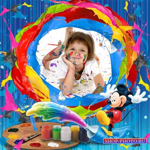 Рамка детская – Этот красочный мир