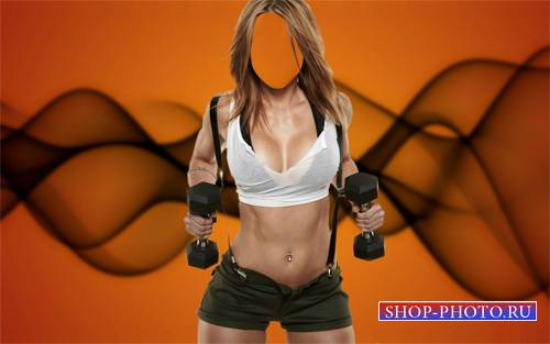 Спортивная фигура - Шаблон psd женский