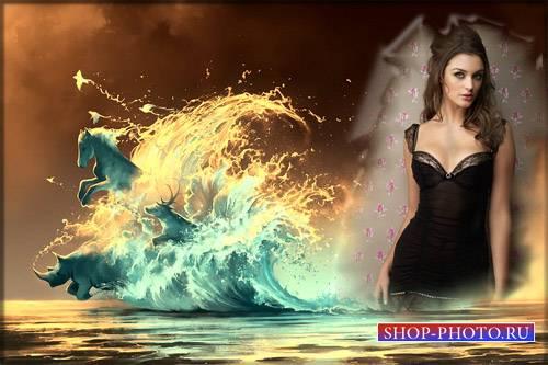 Рамка для фотошопа - Звери из волны