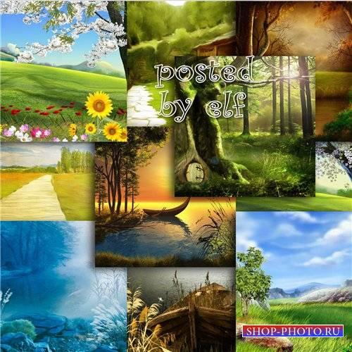 Фоны для дизайна - Природа