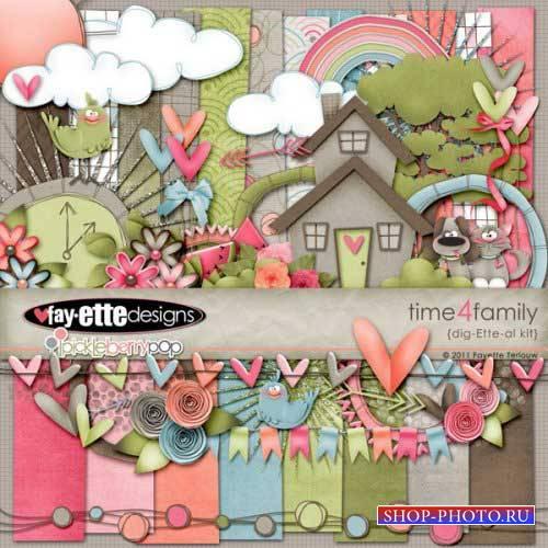 Детский скрап-комплект - Время для семьи