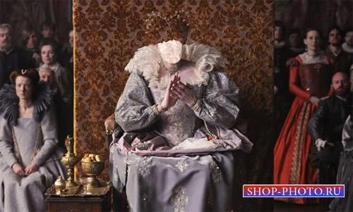 Женский шаблон - Дама в старинном наряде