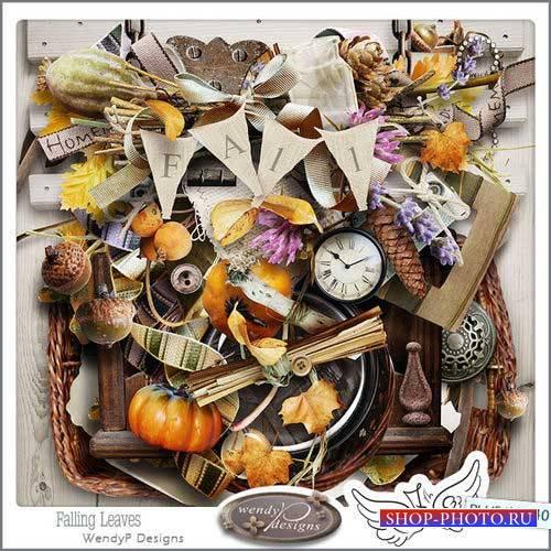 Осенний скрап-комплект - Падающие листья